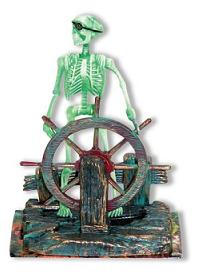 Skeleton with wheel